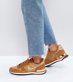 Коричневые кроссовки с металлической отделкой Nike Internationalist - Коричневый