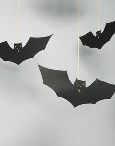 Декоративное подвесное украшение в виде летучих мышей Meri Meri Halloween - Мульти