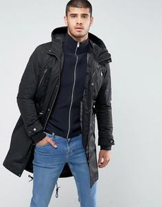 Парка 3 в 1 с отстегивающейся стеганой курткой Selected Homme - Черный