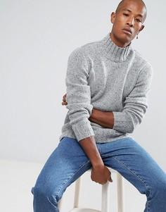 Вязаный джемпер из смешанного шелка Selected Homme - Серый