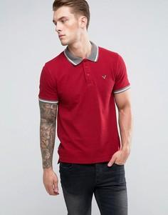 Футболка-поло с контрастным воротником Voi Jeans - Красный
