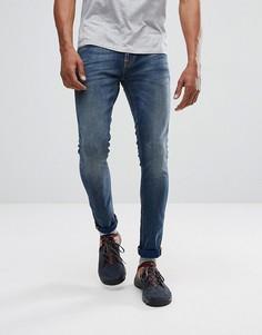 Синие джинсы скинни Nudie Jeans Co - Темно-синий
