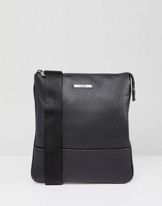 Черная кожаная сумка для авиапутешествий HUGO by Hugo Boss Element - Черный
