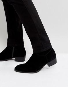 Замшевые ботинки на молнии Vagabond Tyler - Черный