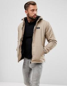 Серая дутая куртка с капюшоном Nicce London - Серый