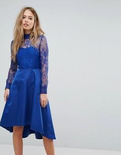 Кружевное платье с открытой спиной Y.A.S - Синий