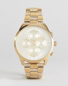 Золотистые часы с хронографом Michael Kors MK6519 Slater - Золотой