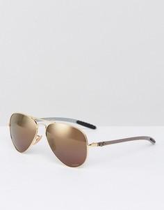 Солнцезащитные очки-авиаторы с поляризованными стеклами Ray-Ban 0RB8317CH - Золотой