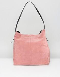 Контрастная замшевая сумка на плечо ASOS - Розовый