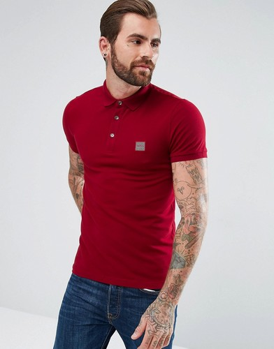 Красная футболка-поло узкого кроя BOSS Orange by Hugo Boss Pavlik - Красный