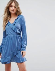 Платье с запахом Brave Soul - Синий