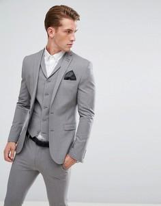 Серый облегающий пиджак ASOS - Серый