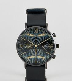 Часы с ацтекским принтом и черным кожаным ремешком Reclaimed Vintage Inspired Aztec эксклюзивно для ASOS - Черный