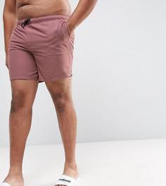 Розовые шорты для плавания средней длины ASOS PLUS - Розовый