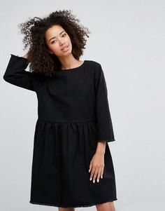 Свободное джинсовое платье Monki - Черный