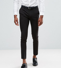 Черные укороченные супероблегающие брюки в строгом стиле ASOS TALL - Черный