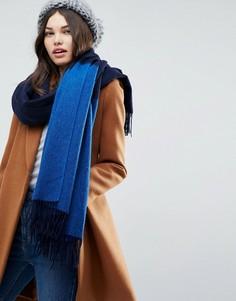 Длинный шарф в стиле колор блок ASOS - Темно-синий