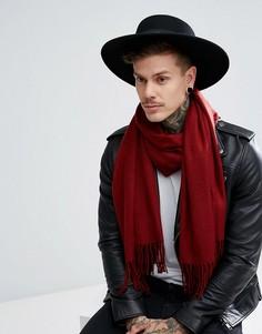 Бордовый шарф ASOS - Красный