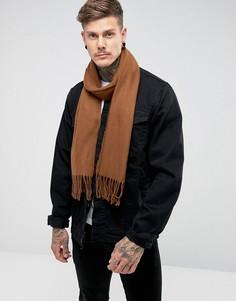 Тканый шарф ASOS - Коричневый