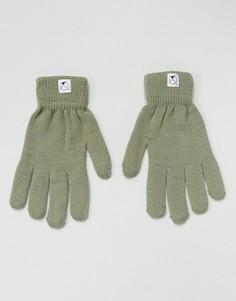 Перчатки с отделкой для пользования сенсорным экраном 7X - Зеленый