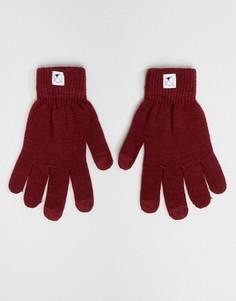 Перчатки с отделкой для пользования сенсорным экраном 7X - Красный