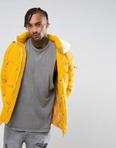 Желтая дутая оверсайз-куртка The New County - Желтый