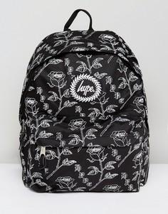 Черный рюкзак с цветочным принтом Hype - Черный