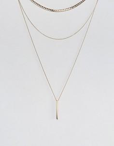 Ожерелье в три ряда Nylon - Золотой