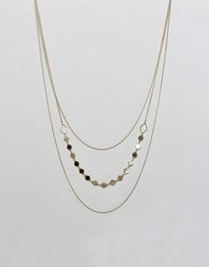 Трехъярусное ожерелье Nylon - Золотой