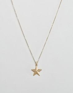 Ожерелье со звездой Nylon - Золотой