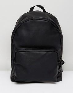 Черный рюкзак из искусственной кожи с внутренним отделением для ноутбука ASOS - Черный