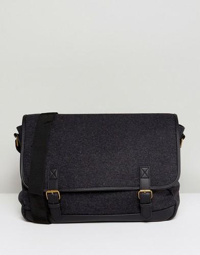 Темно-серый портфель ASOS - Серый
