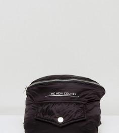 Черная стеганая сумка-кошелек на пояс в стиле оверсайз The New County - Черный