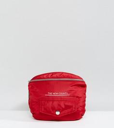 Красная большая дутая сумка-кошелек на пояс The New County - Красный