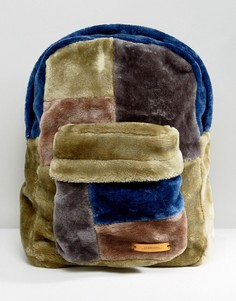 Большой рюкзак из искусственного меха The New County - Темно-синий