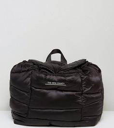 Черный стеганый оверсайз-рюкзак The New County - Черный