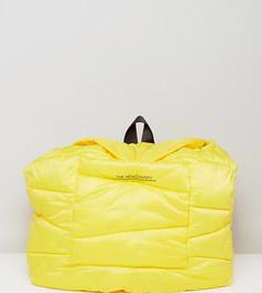 Желтый стеганый оверсайз-рюкзак The New County - Желтый