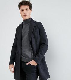 Двубортное пальто в клетку Only & Sons - Серый