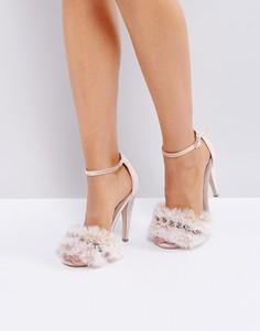 Босоножки на каблуке с декоративной отделкой ASOS HER MAJESTY - Розовый