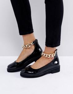 Туфли на плоской подошве ASOS MINGLE - Черный