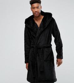 Флисовый халат ASOS TALL - Черный
