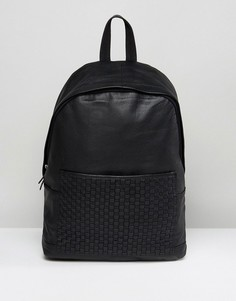 Черный кожаный рюкзак ASOS - Черный