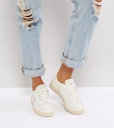 Белые винтажные кроссовки Reebok Classic Club C - Кремовый