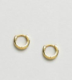 Позолоченные серебряные серьги-кольца ASOS - Золотой