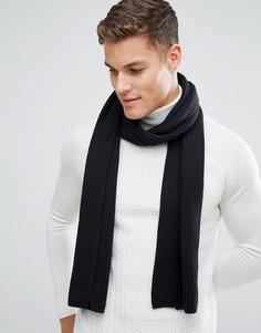 Черный шарф с добавлением кашемира Tommy Hilfiger - Черный