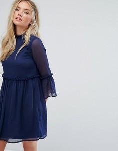 Свободное платье с рукавами клеш Influence - Темно-синий