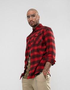 Красная клетчатая рубашка-оверсайз adidas Skateboarding BR7936 - Красный