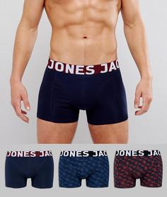 Набор из 3 боксеров-брифов Jack & Jones - Мульти