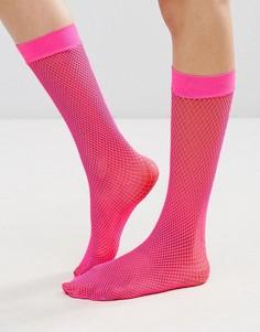 Сетчатые нейлоновые чулки Leg Avenue - Розовый