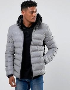 Дутая куртка со светоотражающей отделкой Good For Nothing - Серый
